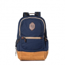 Wholesale good price high quality canvas leather children sports backpack for high school