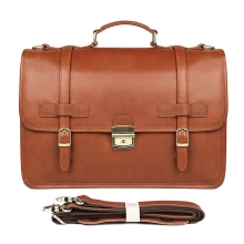 "High end good quality vintage large capacity real leather 14"" laptop bag leather briefcase for men"
