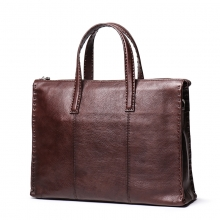Amazon low price good quality handmade leather handbag genuine leather briefcase for men