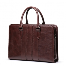 China manufacturer price good quality genuine leather laptop bag real leather briefcase for men