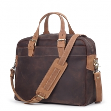 New designer bag vintage brown leather laptop bag genuine leather men briefcase
