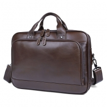Good quality factory price large capacity genuine leather laptop bag real leather briefcase for men