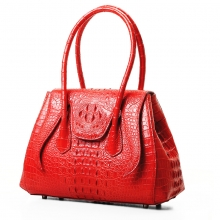 Luxury beautiful design red genuine crocodile leather evening bag for ladies with CITES certificate