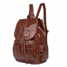 2018 New arrival fashion designer bag brown real leather backpack for women
