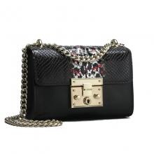 2019 new arrival good quality genuine leather python pattern ladies handbag women purse