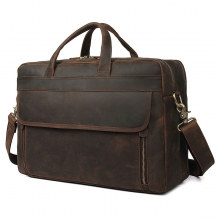 Low price good quality custom design vintage brown duffle bag leather travel bag for business