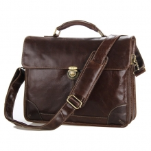 China manufacturer wholesale price top quality brown leather laptop bag men briefcase