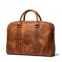 Hot selling low price good quality brown leather laptop hand bag genuine leather men briefcase