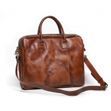 High quality factory price retro style leather men briefcase real leather laptop bag for men