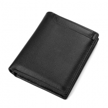 China manufacturer price good quality RFID black leather credit card wallet for men