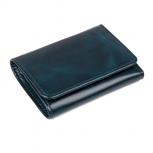 Best selling fashion design vintage green leather rfid wallet credit card wallet