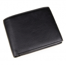 Amazon promotional good quality black genuine leather rfid blocking cards wallet for men