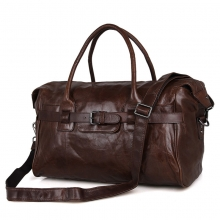 Guangzhou factory low price good quality vintage style traveling bag genuine leather duffle bag