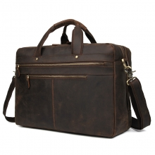 New arrivel high end retro brown crazy horse style cow leather traveling bag duffle bag