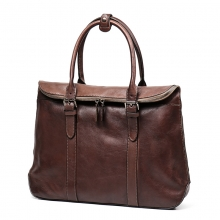 New arrivel top quality vintage genuine leather women handbag brown leather briefcase for men