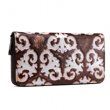 OEM Factory price promotion gift retro style genuine leather card wallet leather purse for women