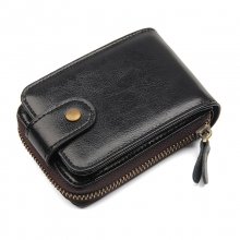 New arrivel good quality business gift genuine cow leather rfid card wallet name card holder