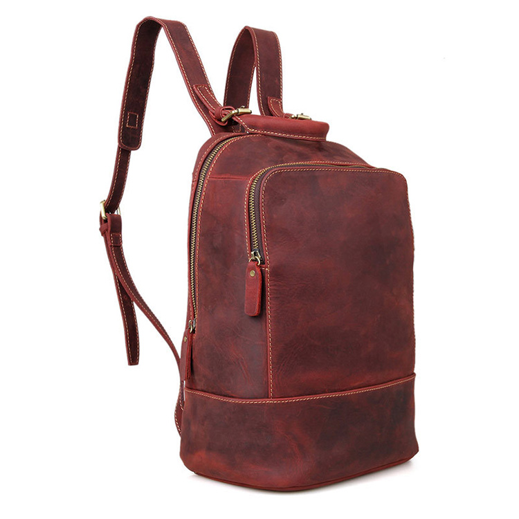 a07212e81 China factory custom design leather best laptop backpack school bags ...